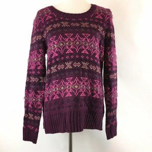 Maurices Boho Printed Pullover Sweater Size Medium